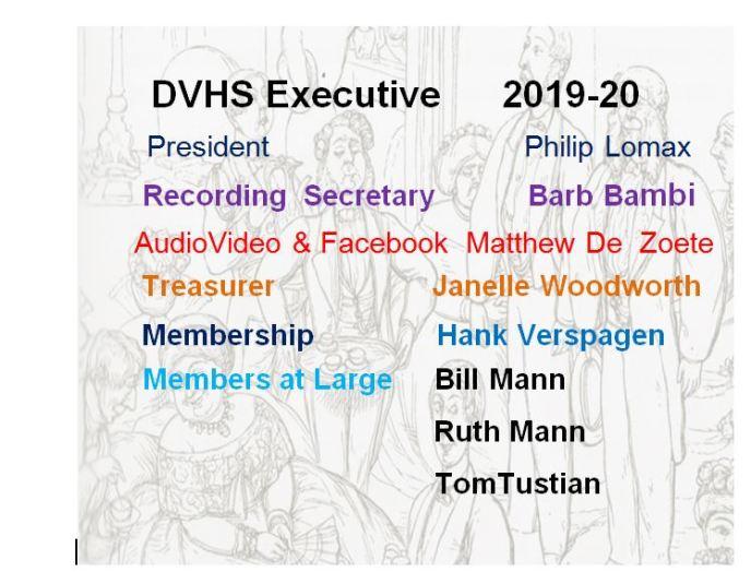 2019-2020 DVHS Executive
